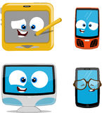 Cartoon electronic devices Royalty Free Stock Images