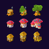 Cartoon element of the game fairy houses Stock Photo