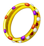 Cartoon element - golden ring Royalty Free Stock Photo