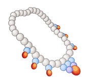 Cartoon element - necklace Royalty Free Stock Image