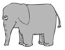 Cartoon elephant. A cartoon of an elephant Royalty Free Stock Photo