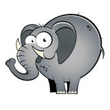 Cartoon elephant royalty free stock photography