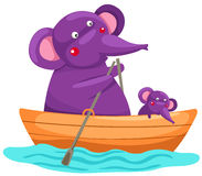 Cartoon elephant royalty free illustration