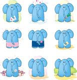 Cartoon Elephant. Image of the cartoon Elephant stock illustration