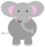 Cartoon elephant. Sweet and happy cartoon elephant Royalty Free Stock Images