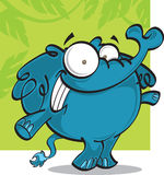 Cartoon elephant royalty free stock image