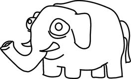 Cartoon elephant Stock Photography