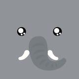 Cartoon elephant Background Stock Photography