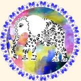 Cartoon elephant  background, cute  illustration Stock Image