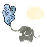cartoon elephant blowing water Royalty Free Stock Photo
