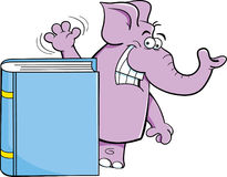 Cartoon elephant with a book Stock Image