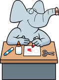 Cartoon Elephant Crafts Royalty Free Stock Image