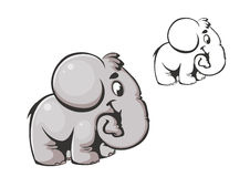 Cartoon elephant Stock Photo