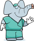 Cartoon Elephant Doctor Royalty Free Stock Image