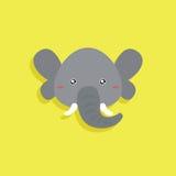 Cartoon Elephant face Royalty Free Stock Photography