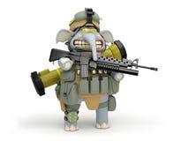Free Cartoon Elephant Infantryman Royalty Free Stock Photography - 81317877