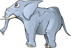 Cartoon Elephant isolated. A Simple cartoon elephant; illustration isolated on white Background stock illustration