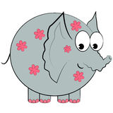 Cartoon elephant isolated character  Royalty Free Stock Photo