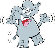 Cartoon elephant jumping Stock Photo
