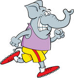 Cartoon elephant running Royalty Free Stock Image