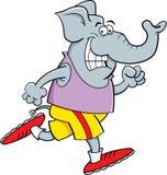 Cartoon elephant running. Cartoon illustration of an elephant running Royalty Free Stock Image