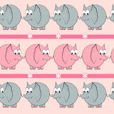 Cartoon elephant seamless  pattern Stock Photography