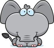 Cartoon Elephant Smiling Stock Image