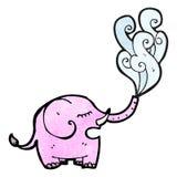 Cartoon elephant squirting Stock Photos