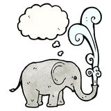 Cartoon elephant squirting water Royalty Free Stock Photos
