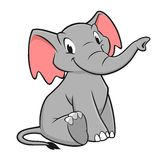 Cartoon Elephant. Vector illustration of a funny elephant for design element Stock Image