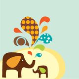 Cartoon Elephants Royalty Free Stock Photos