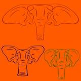 Cartoon elephants. Stock Images