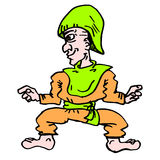 Cartoon elf Stock Image