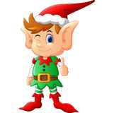 Cartoon elf giving thumb up Royalty Free Stock Photography