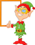 Cartoon elf giving a thumbs up Royalty Free Stock Photos