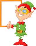 Cartoon elf giving a thumbs up Royalty Free Stock Photos