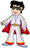 Cartoon Elvis impersonator royalty free illustration