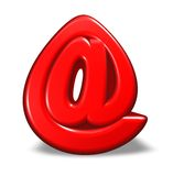 Cartoon email symbol Stock Image