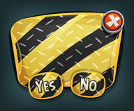 Cartoon Emergency Sign With Buttons For Ui Game Stock Images