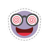 Cartoon emoticon crazy april fools day. Illustration eps 10 Stock Photography