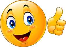 Cartoon emoticon giving thumb up. Illustration of Cartoon emoticon giving thumb up vector illustration
