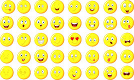 Cartoon emoticon set Royalty Free Stock Photo