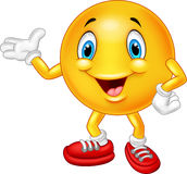 Cartoon emoticon waving hand Stock Photo