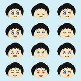 Cartoon emotion human Royalty Free Stock Images
