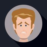 Cartoon emotions design. Stock Images