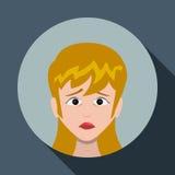 Cartoon emotions design. Stock Photos