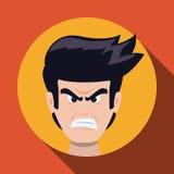 Cartoon emotions design. Stock Image