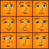 Cartoon emotions set Stock Photo