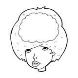 Cartoon empty headed woman Royalty Free Stock Photography