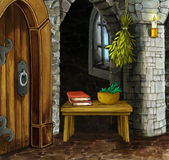 Cartoon empty room - fairy tale scene Royalty Free Stock Photography